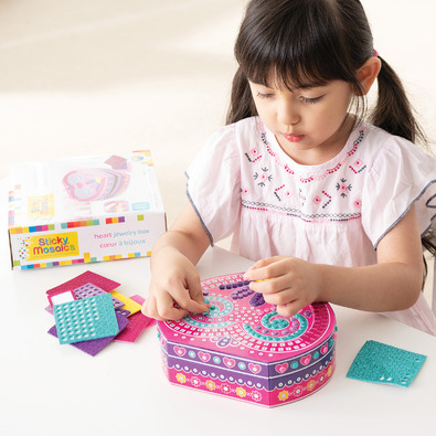 Sticky Mosaics 馬賽克拼貼-心型珠寶盒